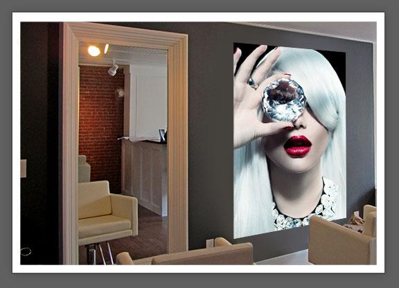 Zebra vinilos mural peluquer a n 41 vinilos for Murales salon modernos