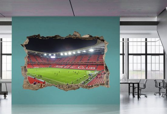 Zebra vinilos 3d estadio athletic de bilbao vinilo 3d estadio athletic de bilbao 28 00 - Vinilos decorativos bilbao ...
