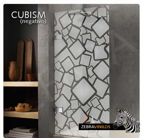 Zebra vinilos cubism negativo vinilos decorativos - Cristales decorativos para puertas de interior ...