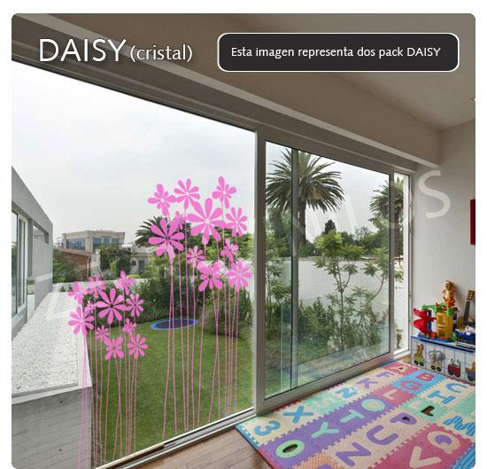 Zebra vinilos daisy cristales vinilos decorativos - Cristales decorativos para puertas de interior ...