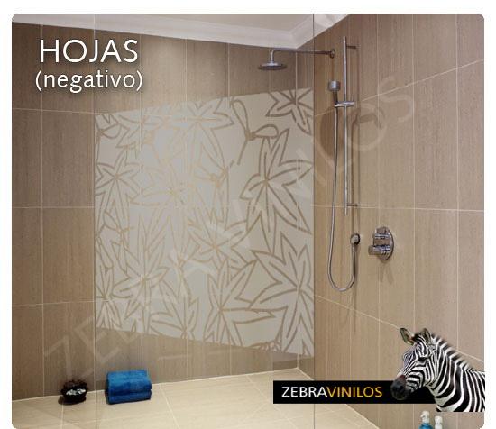 Zebra vinilos hojas negativo vinilos decorativos - Vinilos en cristales ...