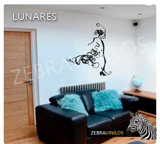 Zebra vinilos - Vinilos lunares dorados ...