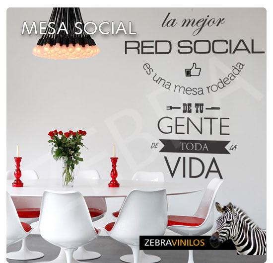 Zebra vinilos mesa social vinilos decorativos pared - Vinilos para mesas ...