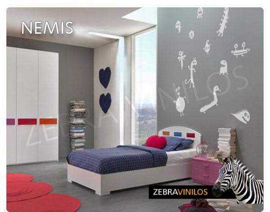 Zebra vinilos for Vinilos pared gotele