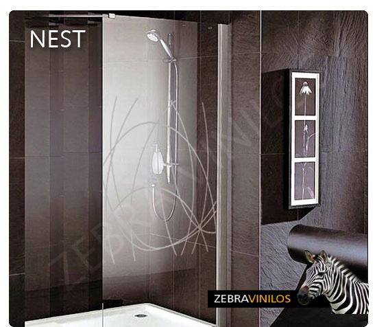 Zebra vinilos nest vinilos decorativos pared y for Adesivi per box doccia
