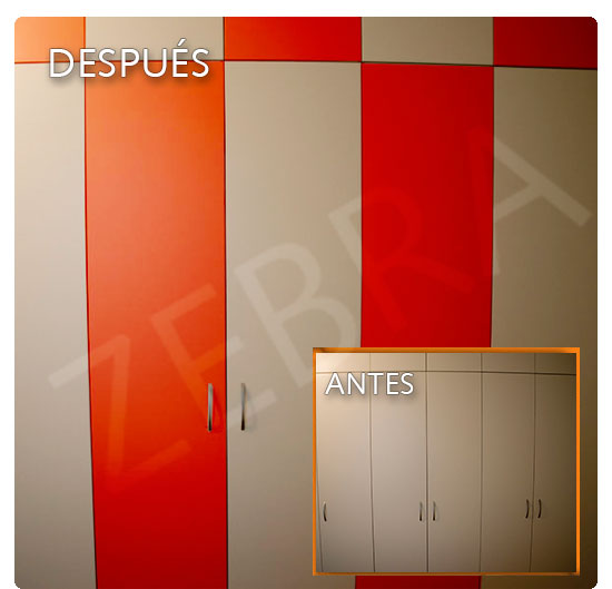 Zebra vinilos reviste tu armario vinilos decorativos - Armario de la tv ...