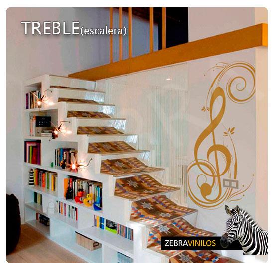 Zebra vinilos treble escaleras vinilos decorativos - Vinilos para escaleras ...