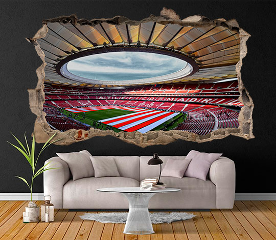 Zebra vinilos 3d estadio wanda metropolitano vinilo 3d for Vinilos decorativos pared 3d