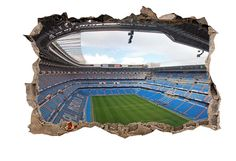 mural gigantografia 3d estadio del Real Madrid