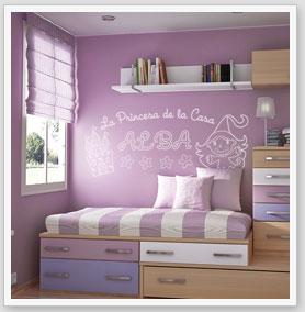 Zebra vinilos princesas ni a pegatinas y adhesivos for Vinilos decorativos dormitorios juveniles