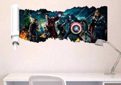 avengers vinilo mural