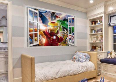 vinilo habitacion infantil super heroes iron man