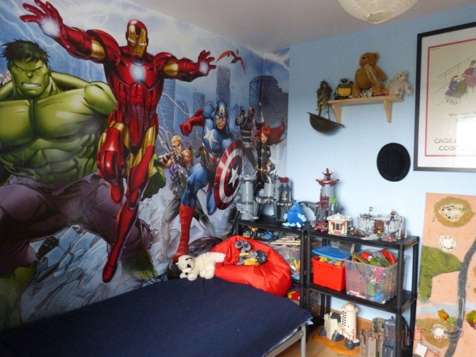 vinilo de pared superheroe fotomural
